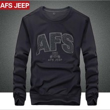 AFS JEEP Fashion Hoody Men's Long-sleeved casual fleece Printing Cotton Plus Size L XXXXXL Round Mans Tops Male Boy Fleeces