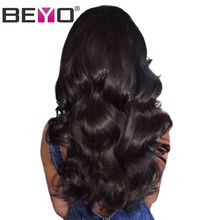 Glueless Lace Front Human Hair Wigs With Baby Hair Body Wave Lace Wigs Brazilian Hair Wigs For Black Women Non-Remy Beyo Hair(China)