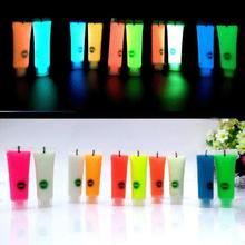 10 Colors Color Face Body Painting Makeup UV Flash Temporary Art Tattoo Paint Shining Run Glow In Dark Paint Fluorescent Oil Z3