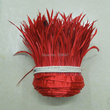 10Yards/lot! Red Goose Biot Feather Trim,Millinery Feather, Biot, Hat Trimming, Feathers for Millinery,Fascinators & Crafts(China)