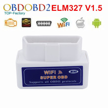 Super MINI ELM327 WIFI V1.5 OBD2 Scanner Support All OBDII Protocols Work For IOS/Android/PC Wireless Connect ELM327 WIFI V1.5
