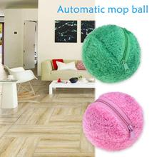 Automatic Roll Ball Robotic Mop Ball Mini Vacuum Cleaner Polyester Cleaner Floor Sweeper Mop Balls Replace 4pc Fiber Ball Sleeve(China)