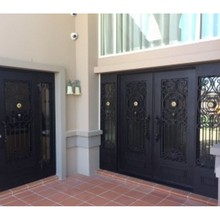 price front doors modern wood front doors front doors wrought iron(China)
