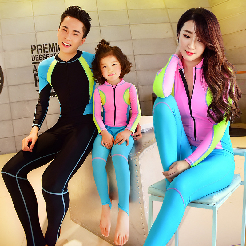 2018 Bikinis Parent-child Swim Suit Swimming Wear Snorkeling Long Sleeves Piece Sunscreen Clothes Jellyfish Swimsuit Beach Suit<br>