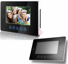 Touch Keys Video DoorPhone 7inch Color LCD Video Intercom Indoor Monitor For Apartments 100V-240V US/AU/EURO/CA 2-pin plug,/UK