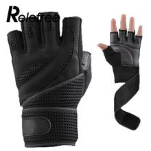 Buy 1 Pair Men Weightlifting Gym Training Sports Fitness Gloves Wrist Wrap Workout Exercise Black/Brown M/L/XL for $9.50 in AliExpress store