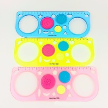 1pc Magic Ruler Spirograph Drawing Universal Ruler Children's Educational Toys Multifunction Variety School Stationery Draw Toy
