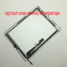 Front Glass For Ipad 4 A1458 A1459 A1460 Touch Screen Digitizer + Home Button + Original Adhesive Tape Free Tools