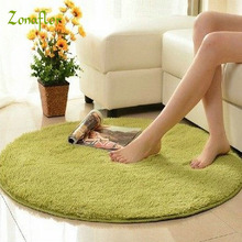 Zonaflor Home Decoration 1PCS Round Carpet Winter Warm Velvet Chair And Chair Floor Mat Circular Computer Chair Cushion Yoga Mat(China)