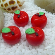 12*13mm Free Shipping! Kawaii Apple, 3d resin cabochon for phone deco  hair bow diy  phone deco Scrapbook Embellishment