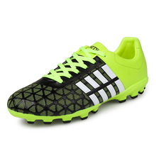 Football Training Shoes Red Green Soccer Shoes For Men Cheap Football Cleats Leather Artificial Grass Soccer CleatsSneaker