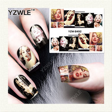 YZWLE 1 Sheet DIY Nails Art Decals Water Transfer Printing Stickers For Manicure Salon YZW-8492(China)