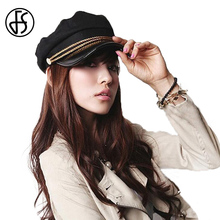 FS 1pcs Women Casual Korean Style Captain Hat Spring Autumn Navy Cap Cotton Military Cap Baseball DropShipping(China)