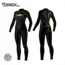 SLINX DISCOVER How 5mm Neoprene Women Fleece Lining Warm Wetsuit Swimming Windsurfing Snorkeling Spearfishing Scuba Diving Suit(China)