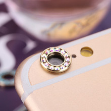 1 pc Rhinestone Rear Camera Glass Guard Circle Metal Lens Protective Case Cover Crystal Ring Bumper for iPhone 6 6S Plus case