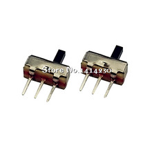 10Pcs Interruptor on-off mini Slide Switch SS12D00 SS12D00G4 3pin 1P2T High quality toggle switch Handle length:4MM