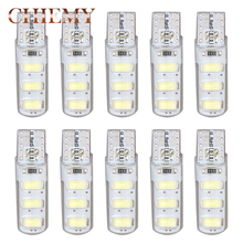Buy 10PCS T10 W5W LED Car interior light 5630 6smd silicone auto Signal lamp 194 501 Side Wedge Clearance bulb 12V White Auto LED for $2.50 in AliExpress store