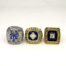 High Quality 3pc 2015 1986 1969 New York Mets World Series Championship Ring Great Gifts