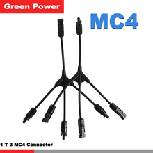 Connector, 1to3 type MC4 connector with pv cable,3 group parallel connection solar panel 1 group output waterproof MC4 connector
