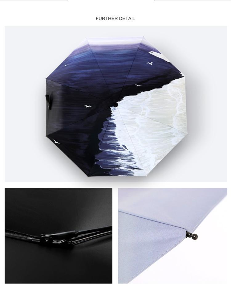 Hand Painted Printing Creative Fully-automatic Umbrella Men Women ...
