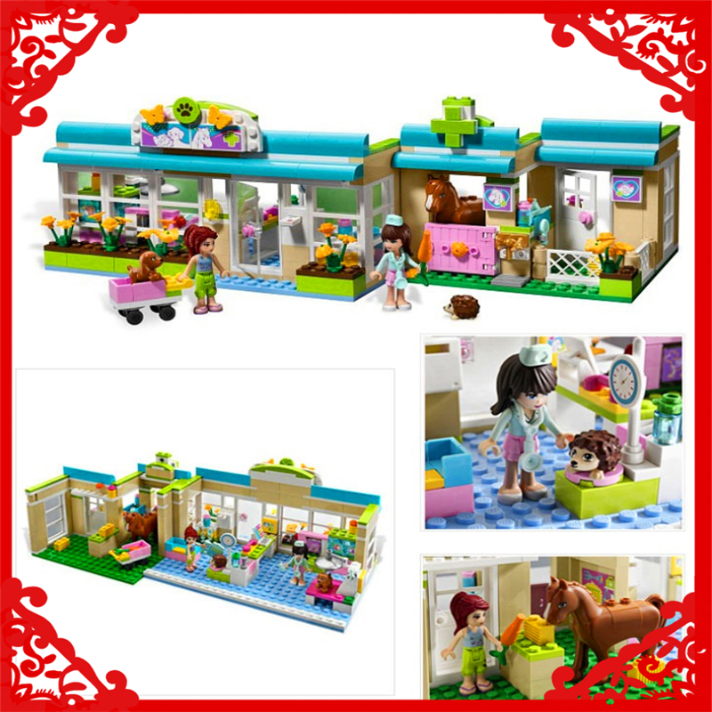 BELA 10169 Friends Series Heartlake Vet Building Block 342Pcs DIY Educational  Toys For Children Compatible Legoe<br>