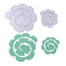 2pcs Rose Flower Roll Metal Cutting Dies Stencils for DIY Scrapbooking Photo Album Decorative Embossing DIY Paper Cards PTSP
