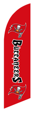 Tampa Bay Buccaneers feather beach flag  outdoor flag for 2.8m and 3.4m flagpole 110g knitted polyester  without flagpole 17023