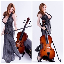 1/6 Scale Action Figure Scene Accessories Cello Model Musical Instruments for 12 inches Action Figures(China)