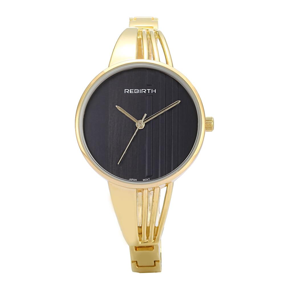 Rebirth Lady Watch Top Brand Luxury Classic Casual Stainless Steel Relogio Feminino Womens Quartz Wristwatches Bracelet Watch <br><br>Aliexpress