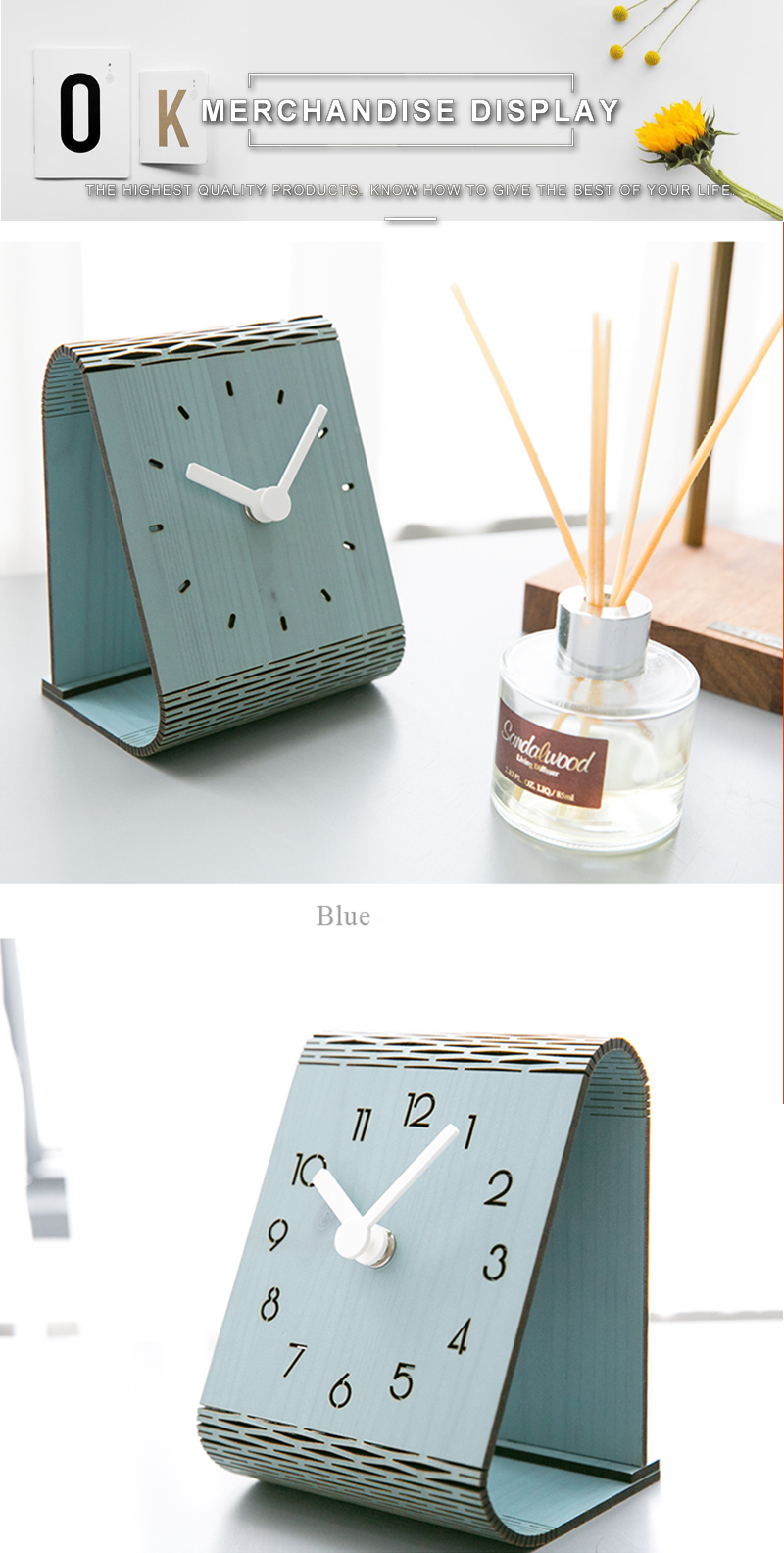 clock retro clock with time projection clock vintage automobile clock alarm clock bedroom clock clock flip watch table table clock vintage table clocks office decoration (3)