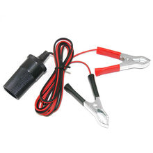 Motorcycle Car Auto 12V Battery Terminal Clip-On Adapter Cigarette Lighter Plug Socket accessories