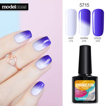 Modelones 10ML Thermo UV Nail Gel Polish Temperature Change Color UV Nail Polish Long Lasting Led Nail Paint Chameleon Varnish