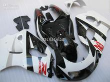 100% NEW + Gloss white blSXk fairing kit FOR SUZUKI GSXR 600 750 1996 1997 1998 1999 2000 GSXR600 GSXR750 96 97 98 99