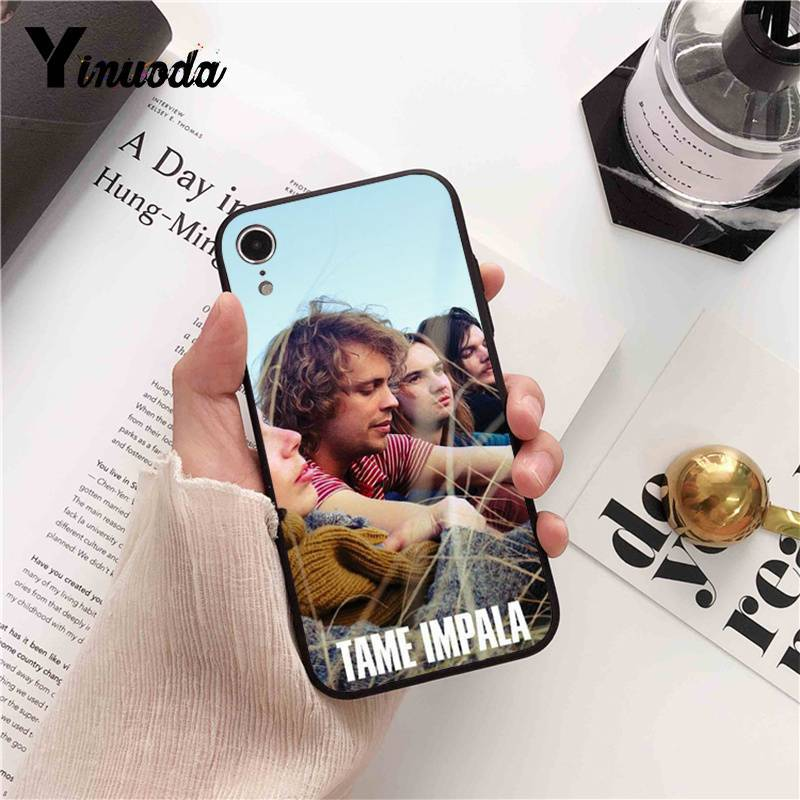 Yinuoda Tame Impala Soft black Phone Case for iPhone 8 7 6 6S Plus 5 5S SE XR X XS MAX 11 11pro 11promax Coque Shell
