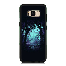 Mysterious Forest Style Paint Soft Rubber Cell Phone Case OEM For Samsung Galaxy S8 S8 Plus S7 S6 Edge S5 Hard PC Cover Skin