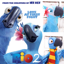 2pcs 2015hot sell rio 2 movie anime stuffed animal for kids gift blu & Jewel blue parrot bird 28 cm Boys/Girls/Baby plush toy