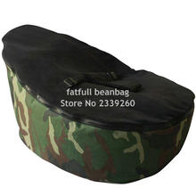 COVER ONLY, NO FILLINGS - camouflage baby bean bag chair, kids toddlers snuggle beds without beans