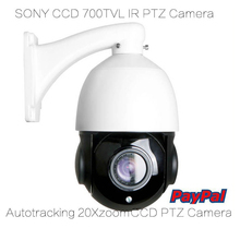 CCD 700tvl High Speed PTZ Dome Camera 20xzoom Auto Tracking Motion Detection IR Night Vision Security Surveillance Camera(China)