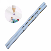 Nail Salon 2pcs/set Nail Art Pencil Pen Dotting Pick Up Rhinestones Crystal Beads Strass Gems Picking Tools Manicure SATR36