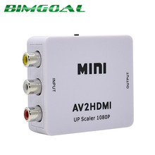Hot Sale White RCA AV HDMI CVBS to HDMI Adapter HD 720P 1080P AV to HDMI Mini av2hdmi Video Converter