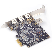 PCI express x1 to  1394b FireWire Controller Card 3 external 1394b + 1 shared internal 1394a ports Chip TI XIO2213