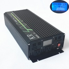Ship from US 2000W peak 4000W Pure Sine Wave Solar Power Inverter 12V/24V DC to 120V AC with LCD Display USB Port for Home(China)