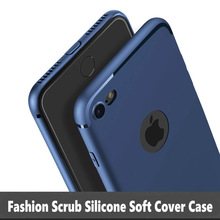 Silicone Soft Case For Apple iPhone 7 Plus Luxury Matte Anti-knock Back Cover For iPhone 6 6s Plus 5 5s SE Cases With Dust Plug