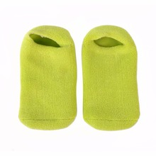 Hot 1 Pair Moisturize Soften Repair Cracked Skin Gel Socks Moisturizing Treatment Spa Foot Care Tools