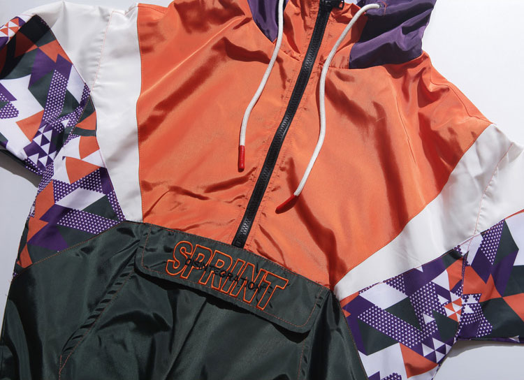 Color Block Patchwork Hooded Jackets 3