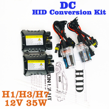 flytop XENON DC HID Conversion Kit 12V 35W H1 H3 H7 Lamp Slim Ballast Car Headlight Bulb 4300K 6000K 8000K 30000K FREE SHIPPING(China)