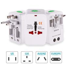 UK EU AU US Plug Universal Adaptor Converter Sockets World Travel Durable White