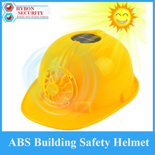 Construction Safety Helmet PE Material Safety Helmet Motocycle Helmet Solar Powered Security Helmet with Cooling fans(China)