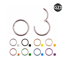 SWANJO 1PC 16G 14G G23 Titanium PVD Universal Piercing Segment Hinged Rings Labret Lip Nose Earrings Piercing Body Jewelry