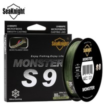 2017 SeaKnight MONSTER 300M 9 Strands Fishing Line Super Strong S9 PE 30lb~100lb Green Wide Angle Technology Sea Fishing Line
